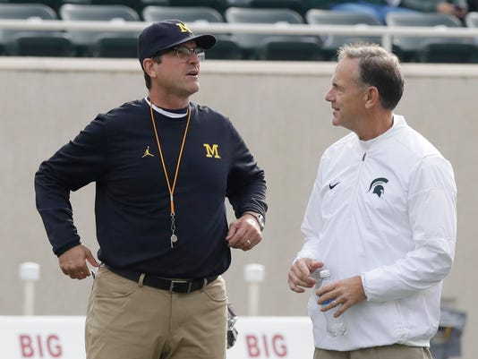 Jim Harbaugh Mark Dantonio