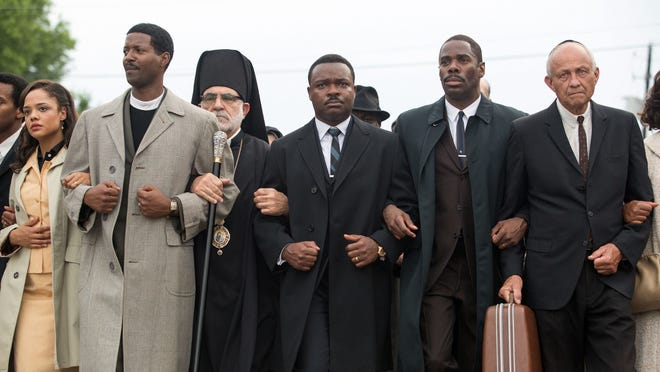 "Preferia Range believes the Civil Rights Movement would not have succeeded if blacks and whites had not marched together. This photo from the movie ""Selma"" illustrates the march."