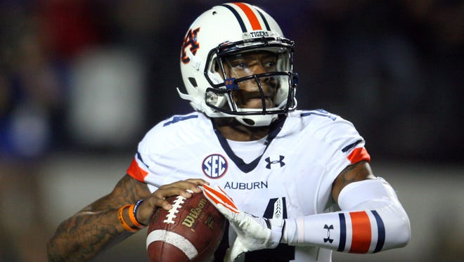Auburn quarterback Nick Marshall's stats are best when the Tigers are trailing by seven or less points.