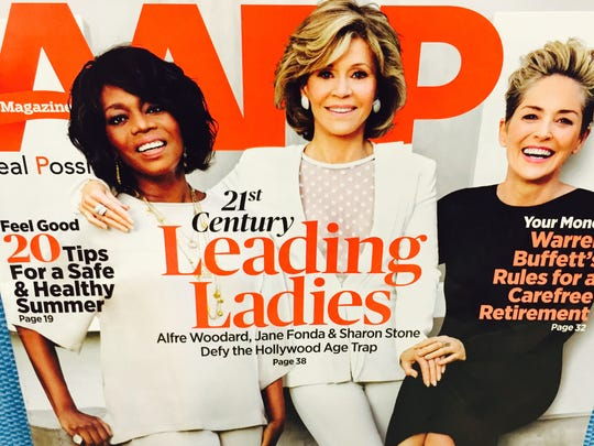 """The cover of the current """"AARP Magazine."""""""
