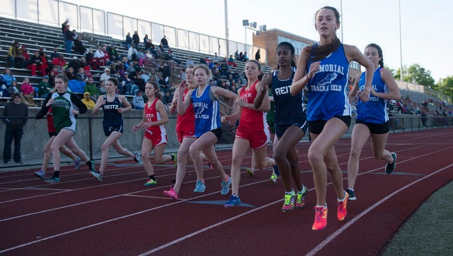 The girls 1600 meters kicks off at the City track and field meet at Central High School Friday evening.