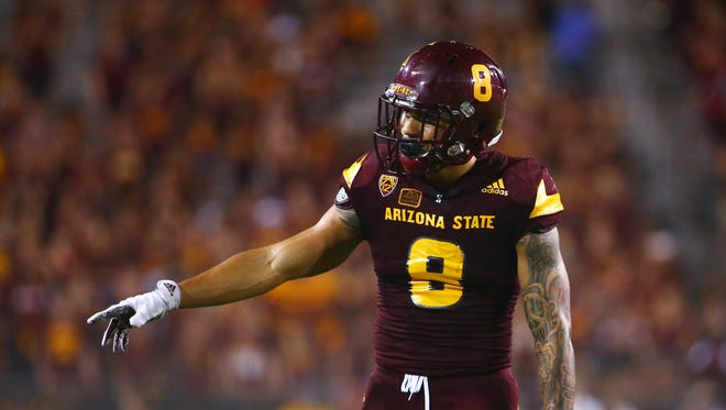 Sep 26, 2015: Arizona State Sun Devils wide receiver D.J. Foster (8) against the Southern California Trojans at Sun Devil Stadium.