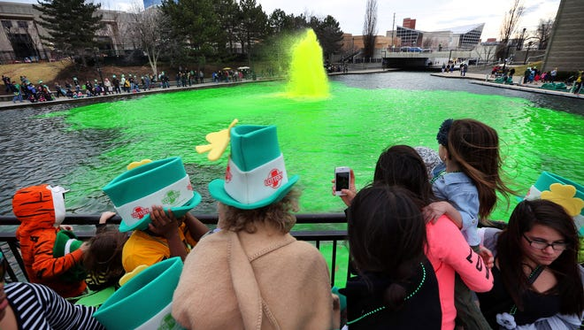 On March 16 at 5 p.m., come out and watch Gov. Mike Pence, Mayor Greg Ballard and other dignitaries dump green dye into the canal.