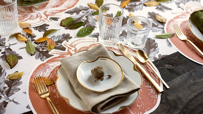 4. Place cards, table runners and placemats can be found at local shop Hester & Cook