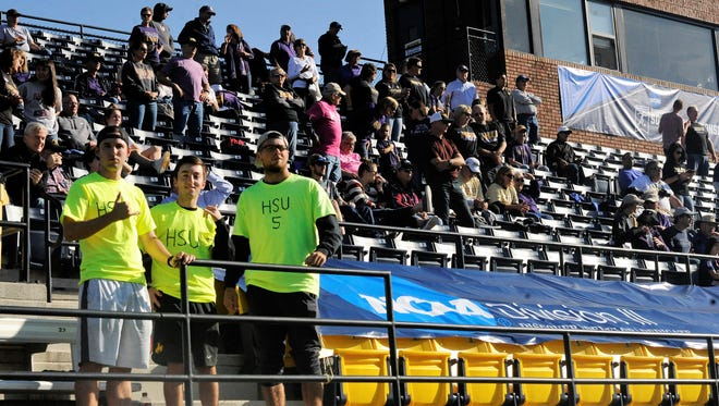Members of the Hardin-Simmons men's tennis team and family members filled into the UNCG Soccer Stadium stands prior to Friday's NCAA Division III Final Four semifinal. The Cowgirls lost 1-0 to Williams. See more coverage in Sports on Page 1C.