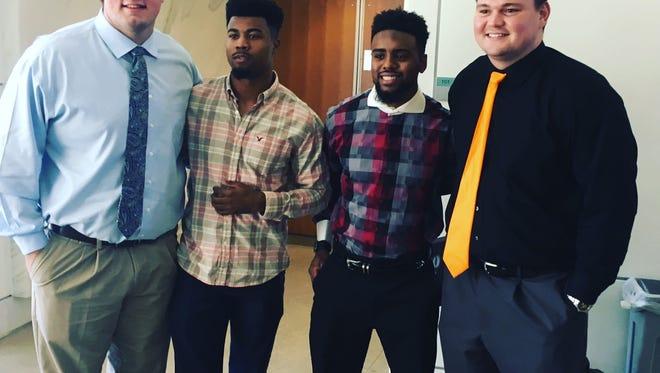 Brett Kendrick, Cameron Sutton, Malik Foreman and Dylan Wiesman graduated Friday.