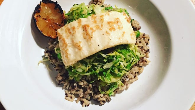 Grains, greens and protein -- this dish covers all the bases.