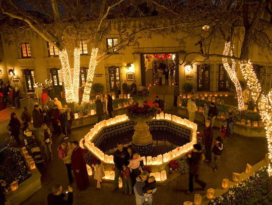Lights and luminarias are part of the Festival of Lights