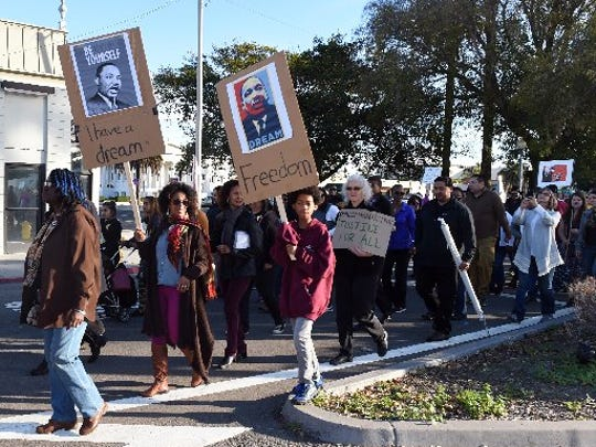 The MLK Day March in Oxnard in 2015.