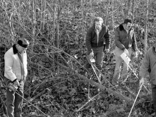 Circle City React members assisted police in combing a secluded two-acre crime scene in Johnson County where the bodies of four young Speedway Burger Chef employees were found after they were abducted on Nov. 17, 1978.