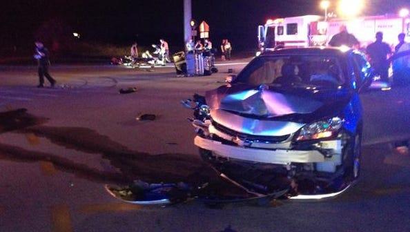 The scene of the crash in Viera.