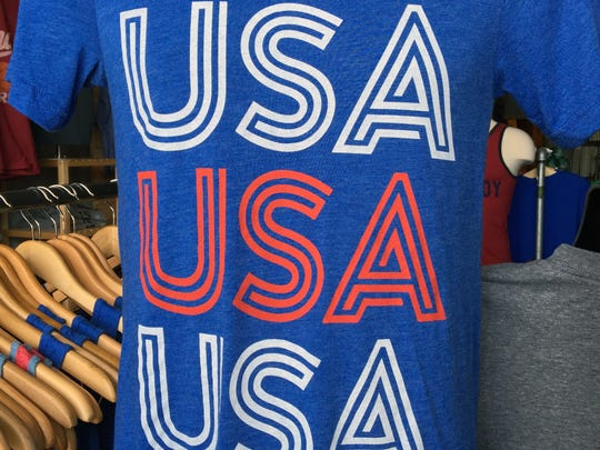 "The Shop's ""USA USA USA"" T-shirt. $22, www.theshopindy.com"