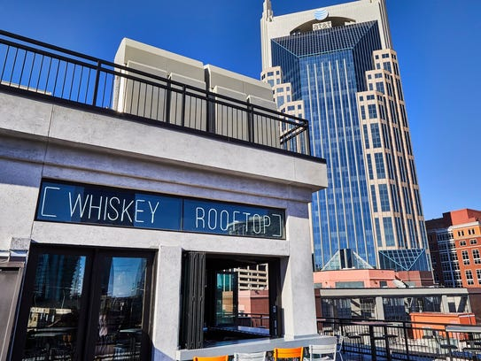 The Whiskey Row rooftop is in the heart of the action