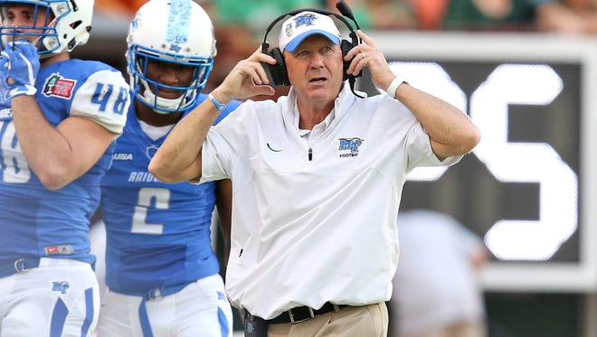 The Blue Raiders had a better record in 2016 than they did in 2015 but by only one more win and one less loss.