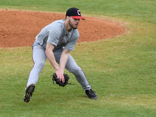 Pitcher Hunter Speer is part of a large group of newcomers to the William Carey baseball team.