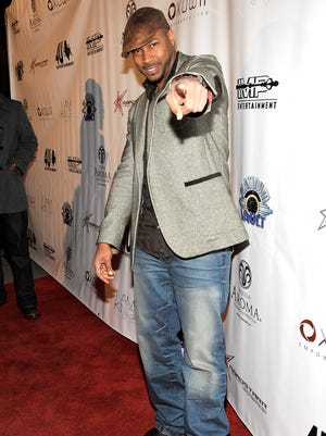 Finesse Mitchell attends  a Grammy party in 2010.