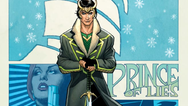 "With sword in hand, Loki cuts a swashbuckling figure in the new Marvel Comics series ""Loki: Agent of Asgard."""
