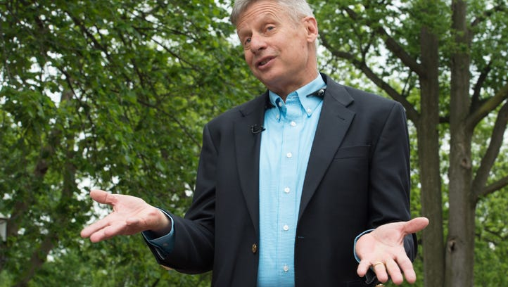 U.S. Libertarian Party presidential candidate Gary Johnson speaks to AFP during an interview in Washington, D.C., on May 9.