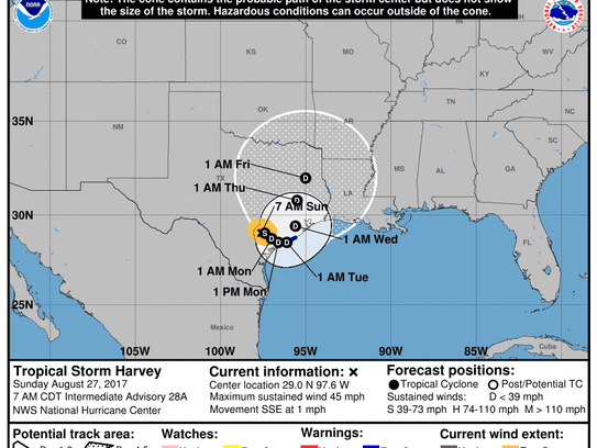 Outlook for Tropical Storm Harvey