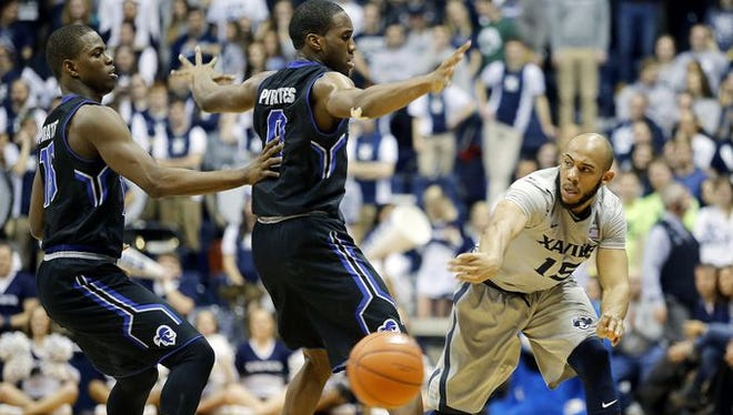 Myles Davis and the Muskies beat Seton Hall by 8 at Cintas Center in January.