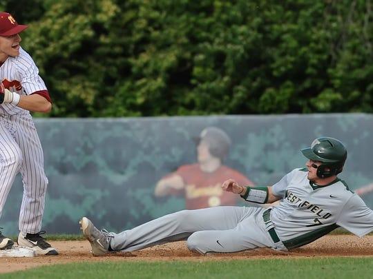 McCutcheon sophomore Kelden Tyson picks off Westfield's