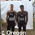 Demons' freshman Micah Larkins and sophomore Amir James punched tickets for the national meet in Eugene, Ore.