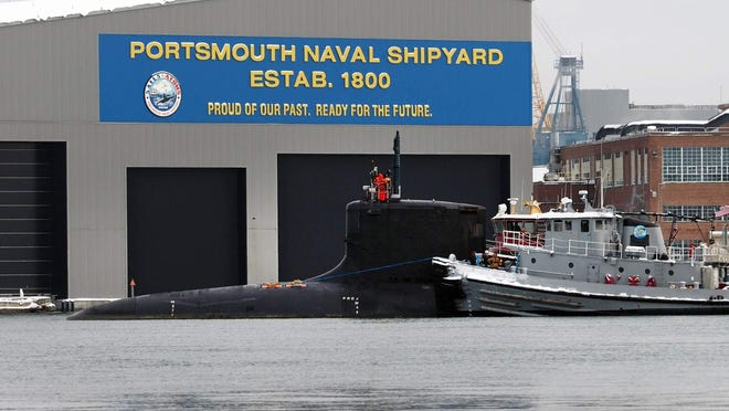 The Portsmouth Naval Shipyard.