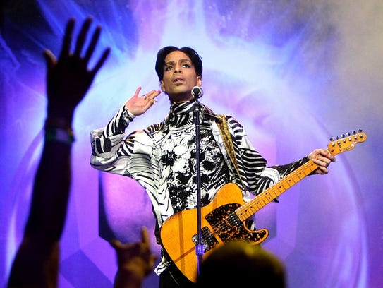 Prince performs his first of three shows onstage during