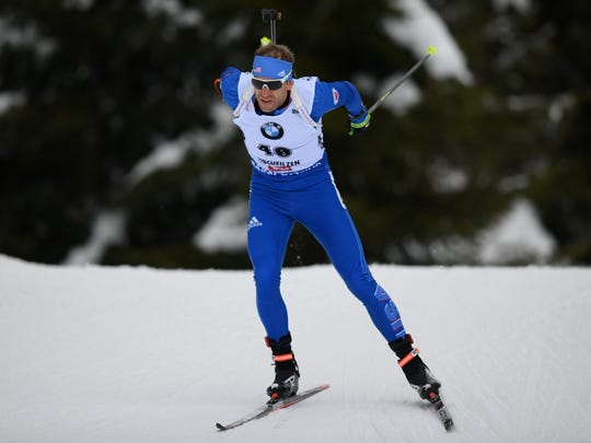Lowell Bailey of the USA competes in the 10-kilometer