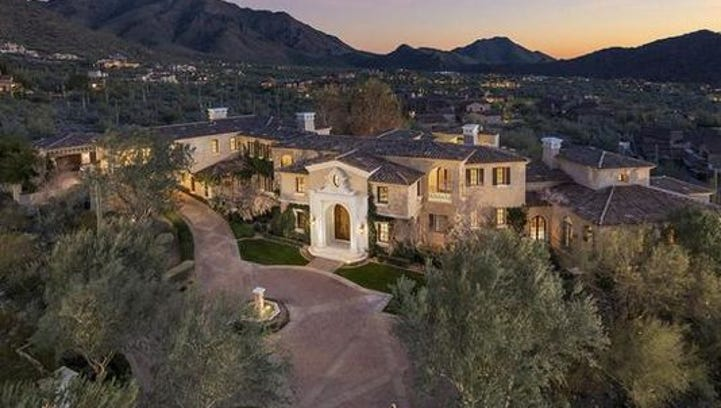 A view of a $5.7 million mansion in north Scottsdale's