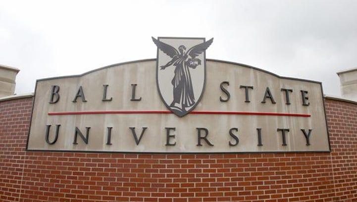 Ball State University sign.