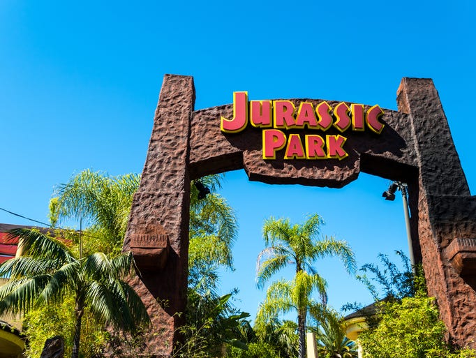 """Jurassic Park - The Ride"" at Universal Studios Hollywood"