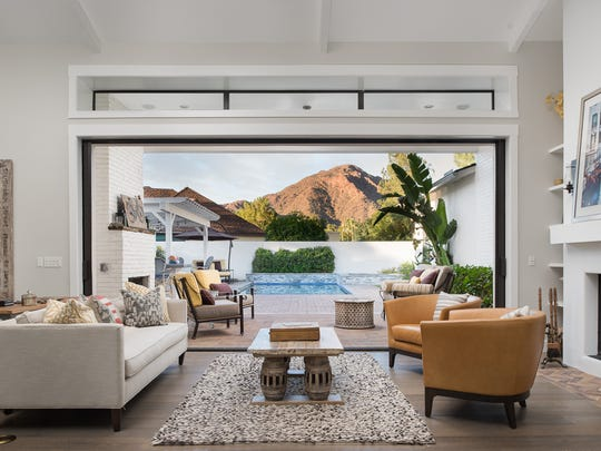 Tuck Bettin, general manager at Cobblestone Auto Spa, and his wife, Jeanette, purchased this 4,600-square-foot contemporary-style home in Phoenix's Esperanza Estates.