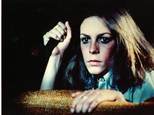 """Scream Queen Jamie Lee Curtis in a scene from the 1978 horror film classic """"Halloween."""""""