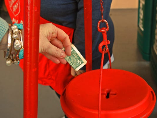 Holiday charity Salvation Army
