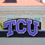 FORT WORTH, TX - OCTOBER 22:  A TCU sign before a game between the TCU Horned Frogs and the New Mexico Lobos on October 22, 2011 at Amon Carter Stadium in Fort Worth, Texas. The TCU Horned Frogs defeated the New Mexico Lobos 69-0.  (Photo by Sarah Glenn/Getty Images)