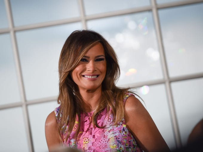 First lady Melania Trump attended the dinner for business