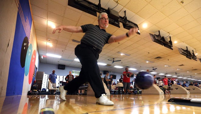 Mark Popkin of Randolph bowls during the 16th annual Pro Image Bowling Boot Camp at Rockaway Lanes on July 15, 2016.