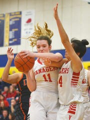 Vermillion's Haleigh Melstad gains control of the ball
