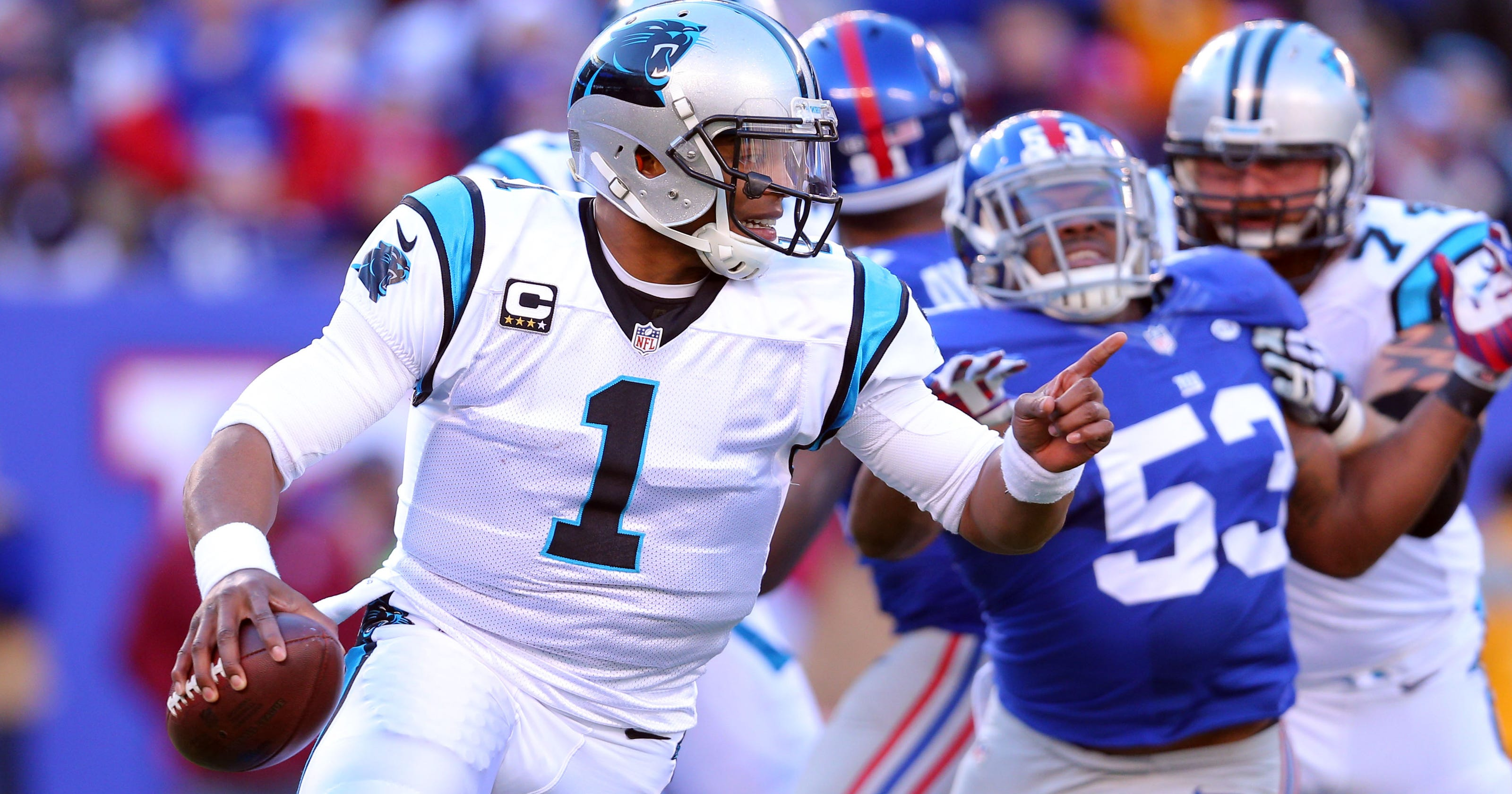 Panthers remain undefeated after fending off furious charge from Giants 536c94d5e