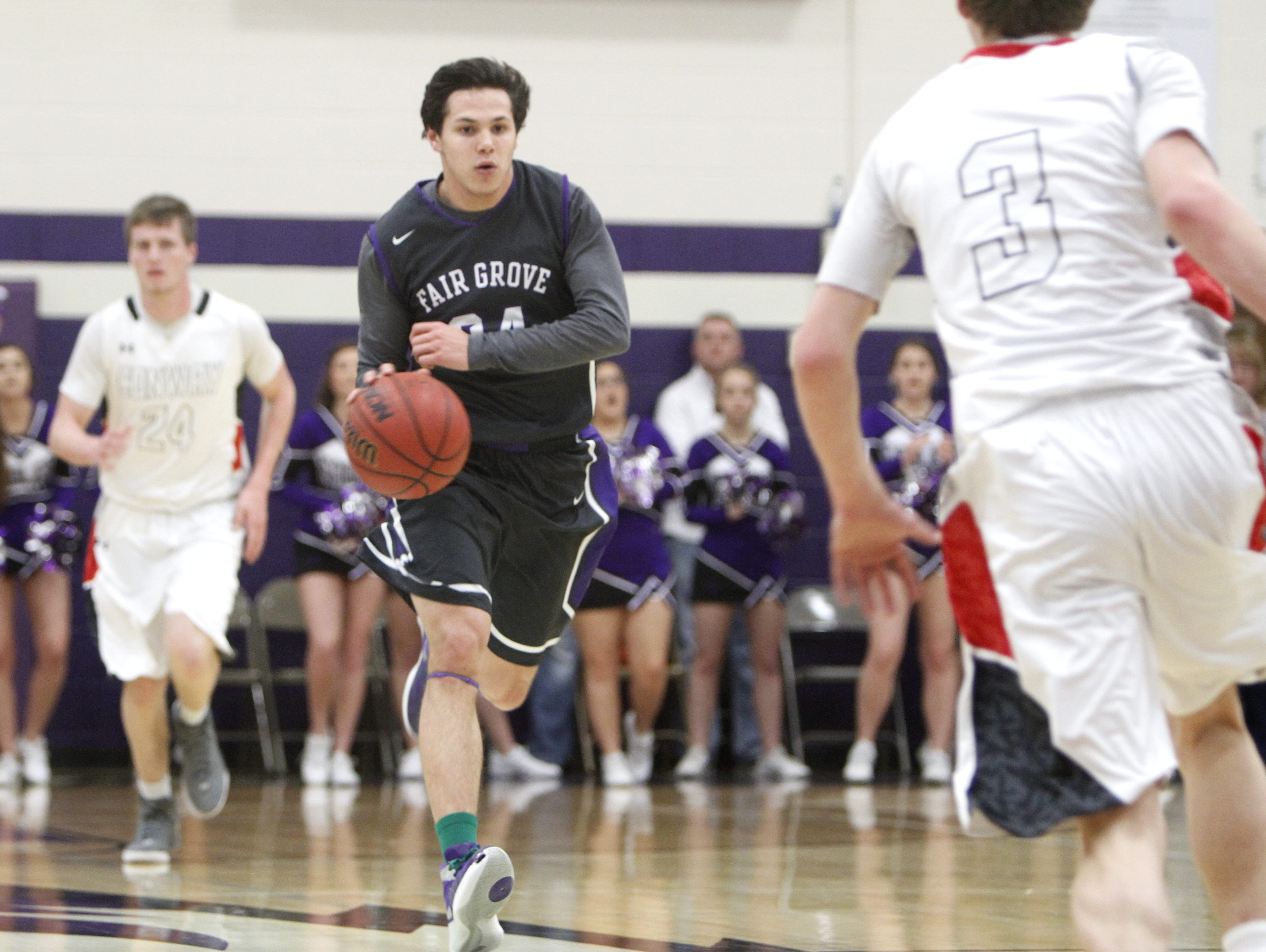 Fair Grove High School graduate Kyle Cavanaugh (center) is scheduled to play in the 2016 Gerald A. Pilz and Friends All-Star Game Saturday, July 9, at College of the Ozarks.