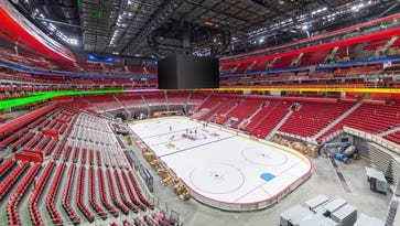 We have ice at Little Caesars Arena!