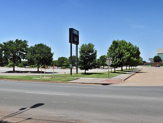 The south side of the MPEC property between Travis