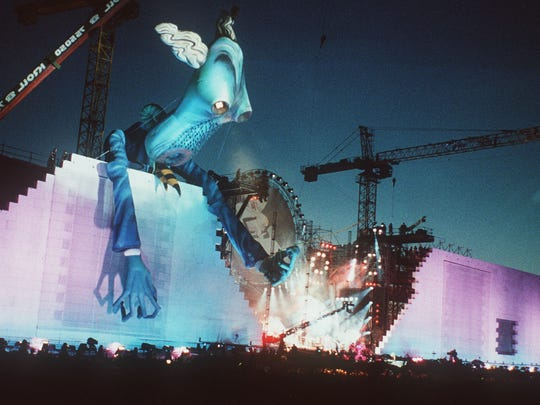"""Roger Waters presented a live edition of """"The Wall"""" in Berlin in 1990."""