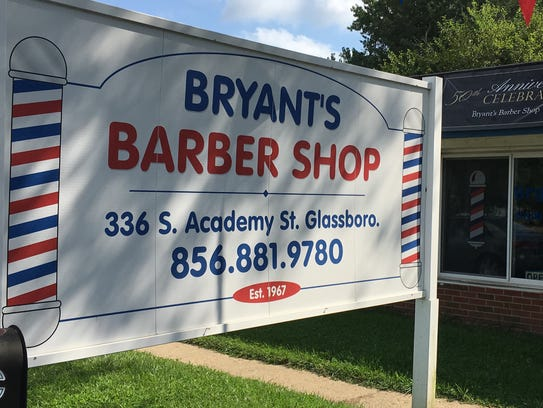 Bryant's Barber Shop on South Academy Street in Clayton