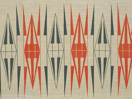 """Ruth Adler Schnee, """"Backgammon."""" designed 1950-51."""