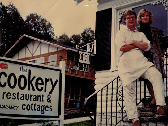Dick and Carol Skare pose on The Cookery's original