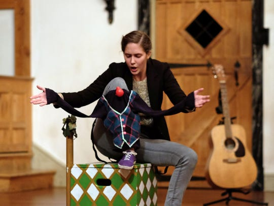"From MBC's Sweet Wag Shakespeare Theater Company, Adrienne Johnson portrays Adam in ""As You Like It,"" performed at the Blackfriars Playhouse in Staunton on Dec. 6, 2015."