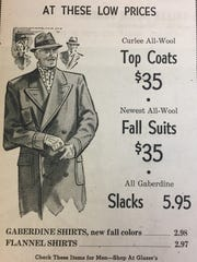 A Glazer's ad for Thanksgiving 1952.