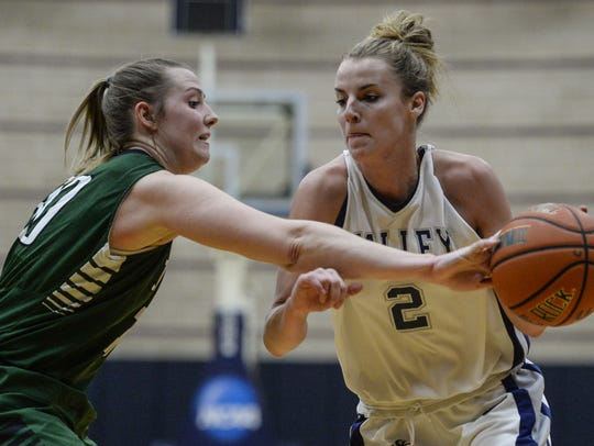 Hilary Yoh, right, is LVC's team captain and one of